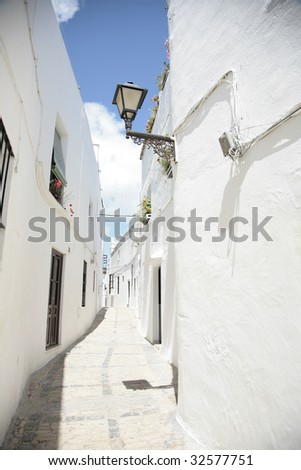 "typical andalusian street in ""Vejer de la Frontera"""