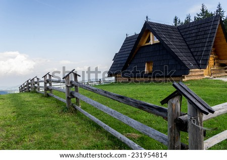 typical architecture of the Polish mountains