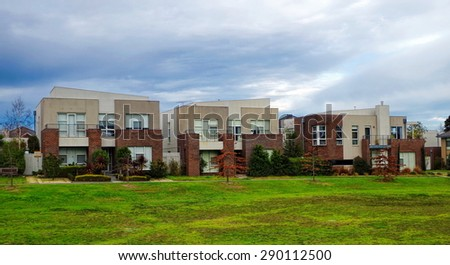 Typical Australian residential house - stock photo