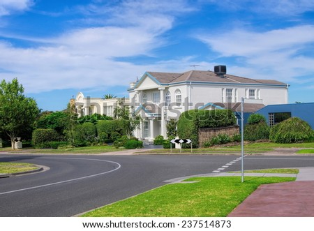Typical Australian residential house closeup