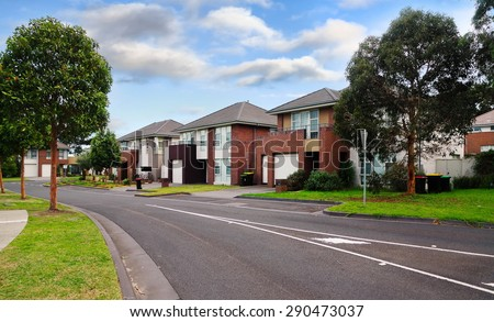 Typical Australian residential houses
