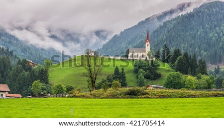 Typical Austrian landscapes - stock photo