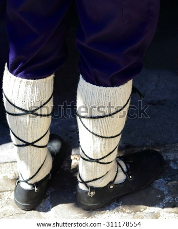typical basque footwear - stock photo