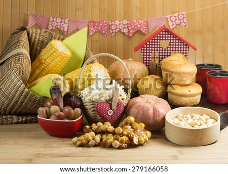 Typical Brazilian farm country food. - stock photo