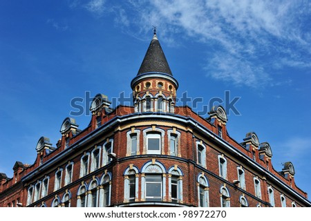 Typical building in Belfast, North Ireland - stock photo
