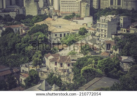 Typical buildings in old part of Rio de Janeiro, Brazil