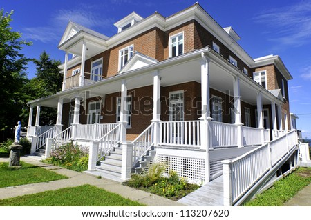 Typical canadian house, Gaspesie, Quebec, Canada - stock photo