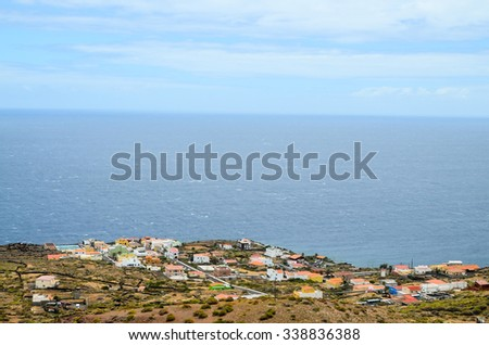 Typical Canarian Colonial House in El Hierro Canary Island - stock photo