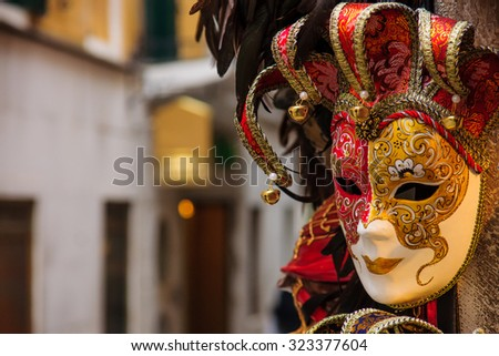 Typical carnival mask, in Venice, Veneto, Italy - stock photo