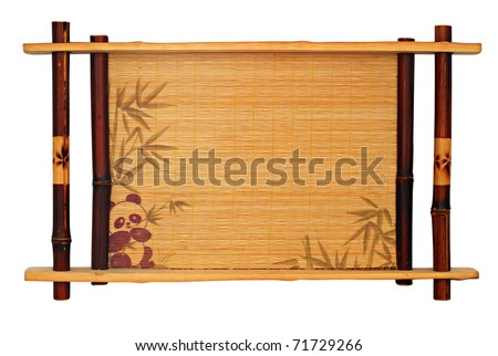 Typical Chinese tea-tray isolated over white background - stock photo