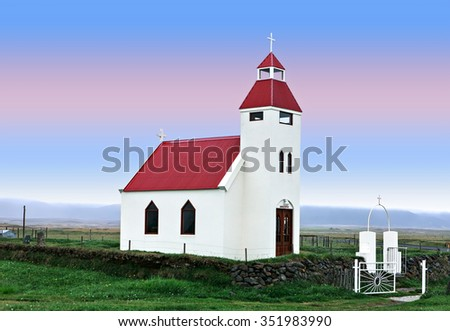 typical church of iceland