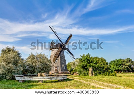 Typical Dutch windmill, Holland