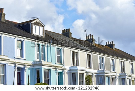 typical england house - stock photo