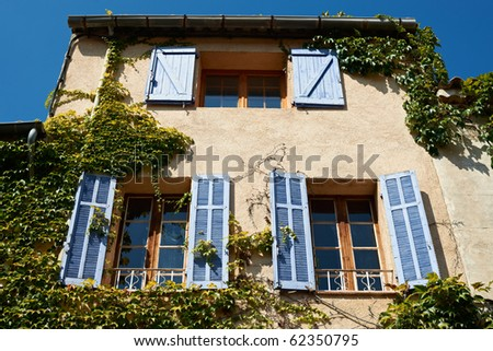 Typical French Provence House In Village Near Aix En