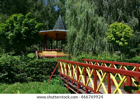 Typical garden pavilion in Spa Luhacovice