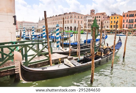 Typical gondola in Venice, Italy  - stock photo