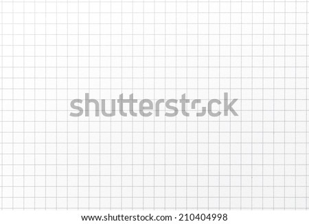 Typical graph grid paper with slight highlight. Shot square to image dimension  - stock photo