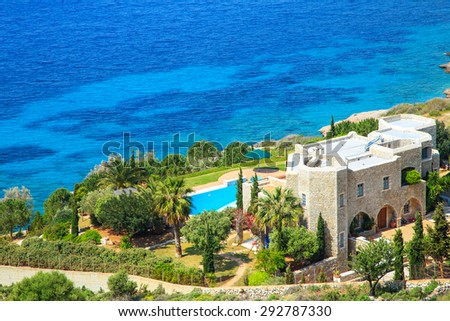 Typical Greek house with a seaview, Greece