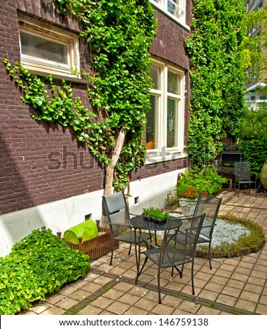 typical house in Amsterdam - stock photo