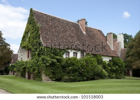 Typical  house in in the Loire Valley, France