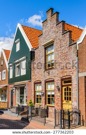 Typical house in Volendam, North Holland, Netherlands