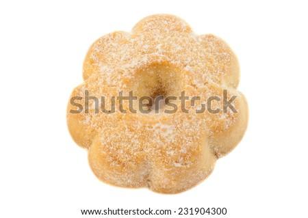 typical italian canestrelli cookie in studio - stock photo