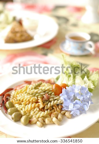 Typical Italian dish - stock photo