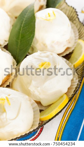 "Typical italian lemon dessert ""delizie a limone""."