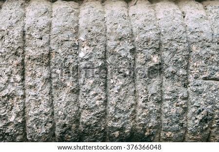 Typical Italian stone ashlar - stock photo
