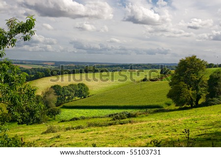 Typical landscape in Brittany - stock photo