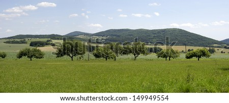 Typical landscape in the Czech Republic - stock photo