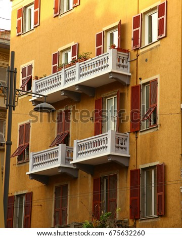 Typical mediterranean facade in Italy