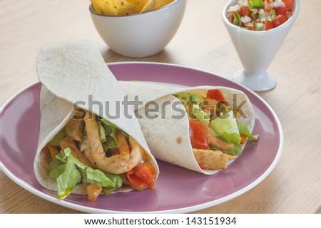 Typical Mexican Burritos - stock photo