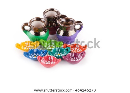 typical Mexican handmade object on white background
