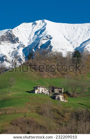 typical mountain landscape - stock photo