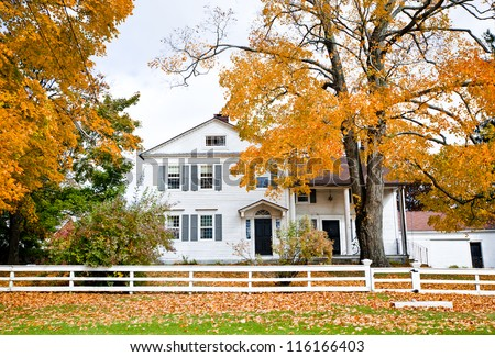Colonial house stock images royalty free images vectors for New england colonial style