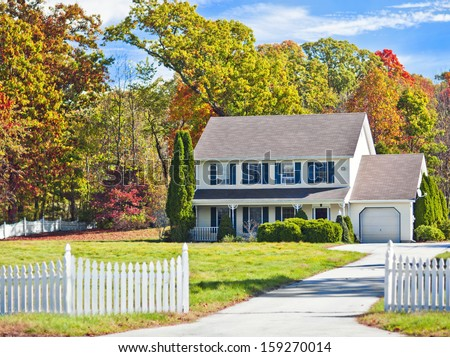 Generic house stock images royalty free images vectors for New england colonial style