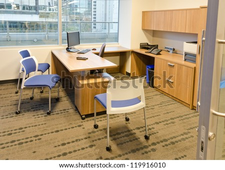 Typical nowadays office interior - stock photo