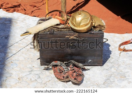 Typical object used by the Roman legions of the Roman Empire - stock photo