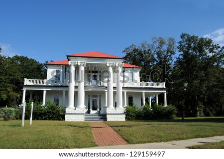 Typical old Mansion in the U.S. South