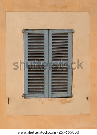 Typical old spanish  window shutter - stock photo