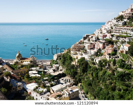 typical old town at the amalfi coast - italy
