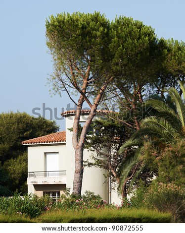 Typical Provence style sea-side villa in the Mediterranean sea region of South France