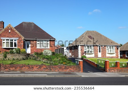Typical redbrick english houses - stock photo