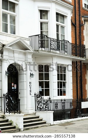 Typical residential house in London, UK.. - stock photo