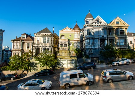 Typical San Francisco Neighborhood, California - stock photo