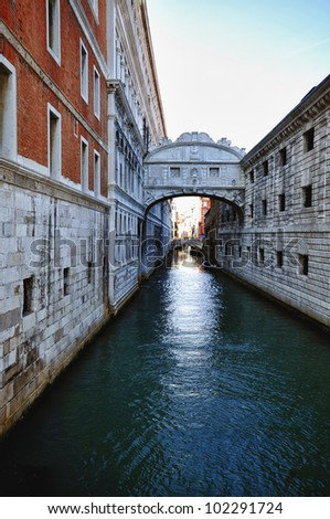Typical scenes of the famous City of Venice in Italy