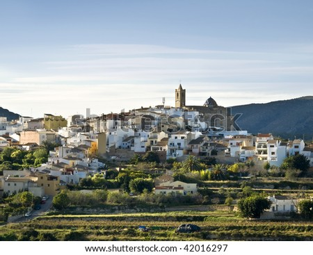 Typical small town located in the Costa Blanca of Spain