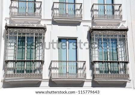 Typical Spanish balconies