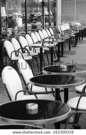 Typical street cafe in Paris France